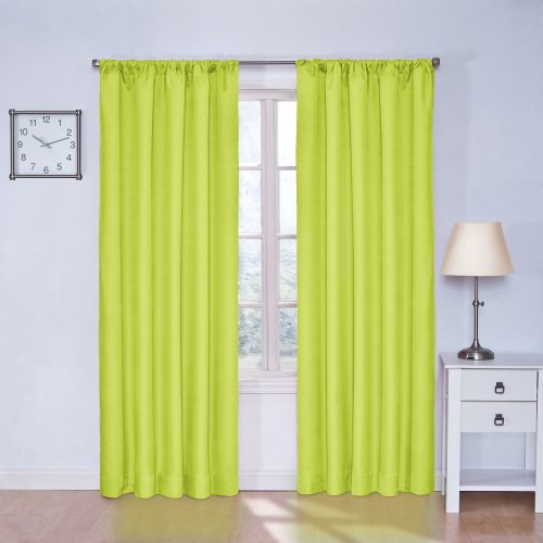 Eclipse Kids Kendall Blackout Thermal Curtain Panel,Lime,84-Inch