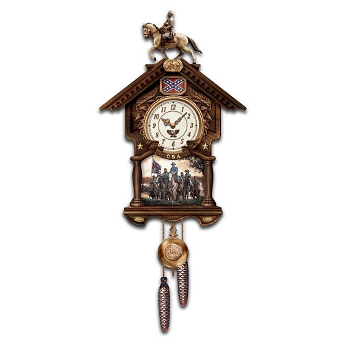 Hour Of Glory Collectible Civil War Cuckoo Clock: Civil War Memorabilia by The Bradford Exchange