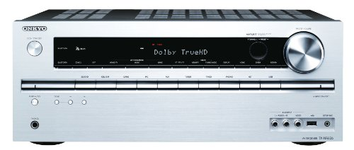 Onkyo TX-NR626 (S) 7.2-Kanal AV-Netzwerk-Receiver (WiFi, Bluetooth, 6 HDMI IN, Musikdienste, Remote App, 2 Zonen) silber