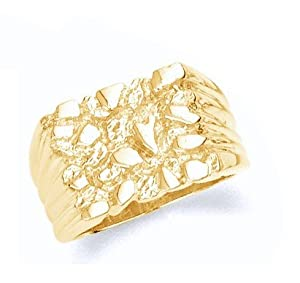 Gold Mens Nugget Ring (4)