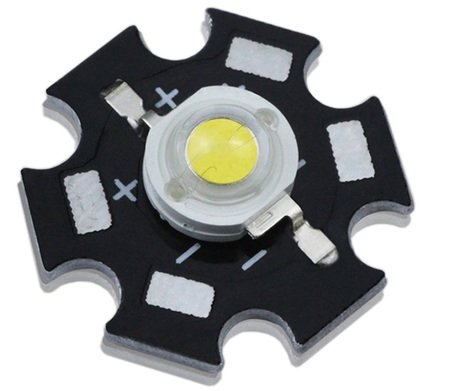 10Pcs 3W High Power Led Warm White With 20Mm Heatsink