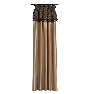 gold and brown silk curtain panel 20 x 84. Black Bedroom Furniture Sets. Home Design Ideas