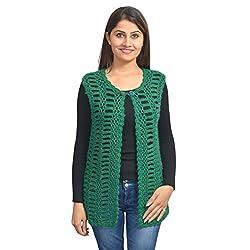 KTC Women's Wollen Cardigan (Green)