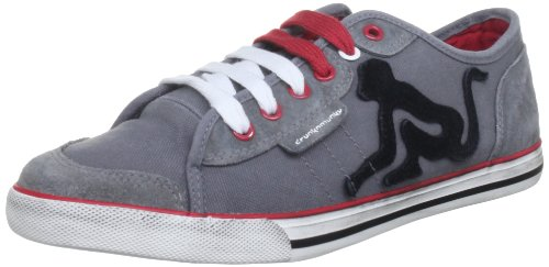 Drunknmunky Unisex Seattle Pocket Cotton Grey/Red Lace Ups Trainers 044 3 UK
