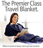 Travelrest - 4-in-1 Premier Class Travel Blanket with pocket. Covers shoulders. Soft and Luxurious.