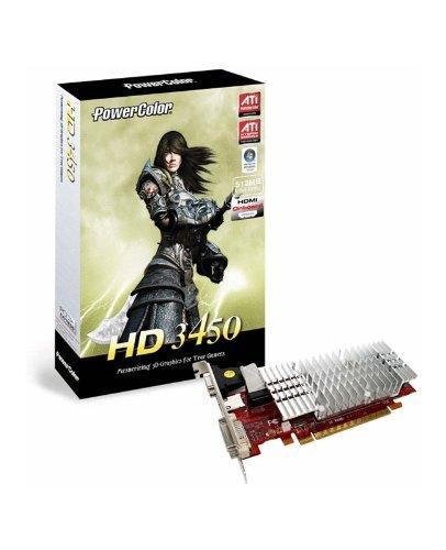 PowerColor ATI Radeon AX3450 512 MB DDR2 DVI PCI-Express Video Card