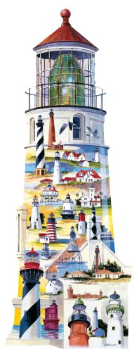 Cheap Fun Great American Puzzle Factory Lighthouses USA 600 Piece Puzzle (B00005OL12)
