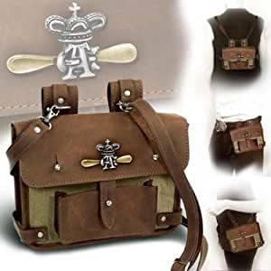 Alchemy Gothic Steampunk Wing Commander's Attache Leather Belt Pouch And Hand Bag Brown