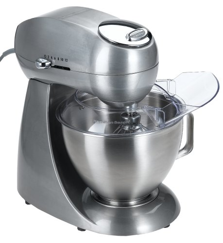 Hamilton Beach 63220 Eclectrics All-Metal 12-Speed Stand Mixer, Sterling Discount