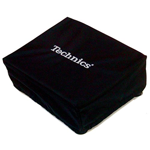 Technics: Embroidered Deck Turntable Cover - Black / Silver (Deck Turntable compare prices)