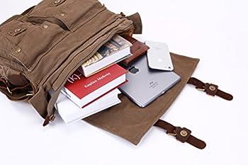 "Berchirly Vintage Military Men Canvas Messenger Bag for 13.3-17""Laptop 2"