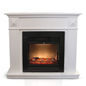 einf hrungspreis elektrischer kamin mit simulierten led kaminfeuer 1800w inklusive. Black Bedroom Furniture Sets. Home Design Ideas