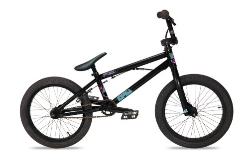 Dk Intervol Bmx Bike With Black Rims (Black, 18-Inch)