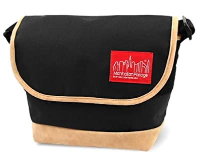 【マンハッタンポーテージ】ManhattanPortage Suede Fabric Casual Messenger Bag(S) MP1605JRSD13 (Black)