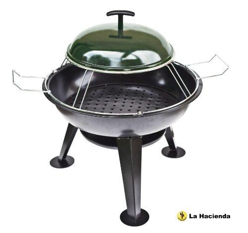 La-Hacienda-Feuerschale-Pizza-Ofen-und-Grill-mit-Deckel-FeuerschaleGrill