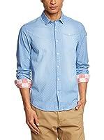 Napapijri Camisa Hombre Gerol (Azul Claro)