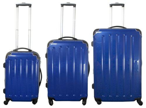 MONOPOL 3TLG Kofferset, Reisekofferset, Hartschalenkoffer