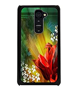 PrintDhaba Flowers D-2290 Back Case Cover for LG G2 (Multi-Coloured)