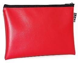 MDM Deposit Bag / Money Bag Red (13x9 Inch)