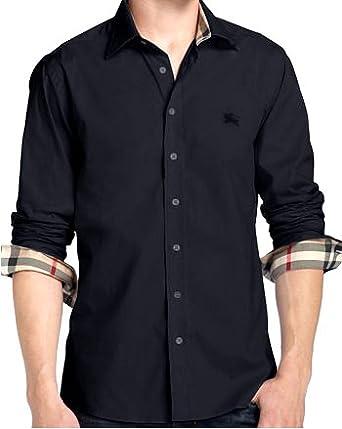 burberry brit designer herren hemd in d gr l schwarz. Black Bedroom Furniture Sets. Home Design Ideas
