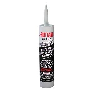 Rutland Stove Gasket Cement Black 10.3 Oz Cartridge