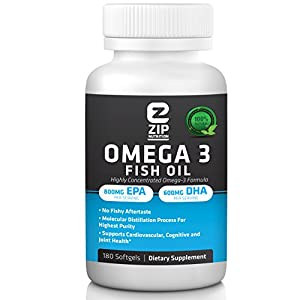 Omega 3 Fish Oil Pills (180 Softgels) - Maximum Strength - 1,500mg Omega-3 Essential Fatty Acids: 800mg EPA 600mg DHA Per Serving - Pharmaceutical Grade Fast Dissolving - Natural Lemon Flavoured Easy to Swallow Fish Oil Capsules - Molecularly Distilled for Purity - Mercury Free - Risk Free Buying with Our 100% Money Back Guarantee.