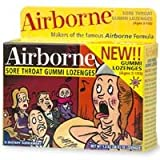 Airborne Sore Throat & Cough Gummi Lozenges - 18 lozenges ~ HerbalLoveShop