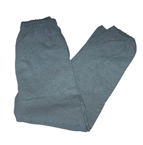 Gildan Men's Fleece Elastic Bottom Pocketed Pant, Sport Grey, X-Large