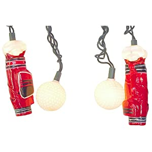 Golf Bags & Balls Novelty Light Set