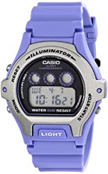 Casio Women's LW-202H-6AVCF Illuminator Stainless Steel Watch with Purple Band