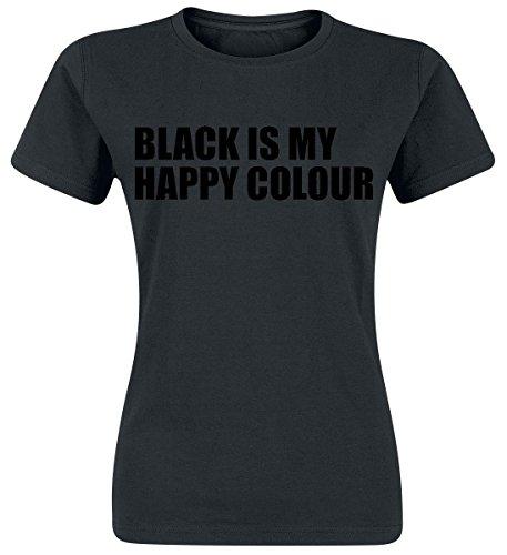 Black Is My Happy Colour Maglia donna nero XXL