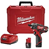 Milwaukee M12 12-Volt Lithium-Ion 1/4 In. Cordless Hex 2 Speed Screwdriver Kit - 2406-22