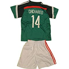 Buy FWC 2014 Chicharito 14 Mexico futbol football soccer Kids Jersey & Short by Mexico
