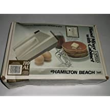 HAMILTON BEACH 5 SPEED HAND MIXER WITH CABINET MODEL 110AL MADE IN U.S.A. (older model)