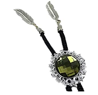 Tie Rope Diamond Bolo Tie Bow Tie for Mens, Amber at