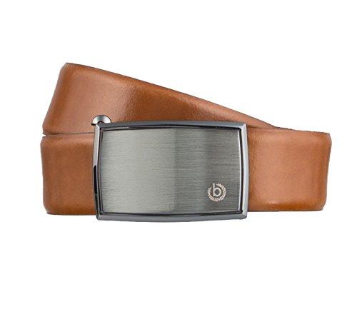 bugatti Gürtel Herrengürtel Ledergürtel Automatikschließe Cognac 3156, Länge:95 cm;Farbe:Braun
