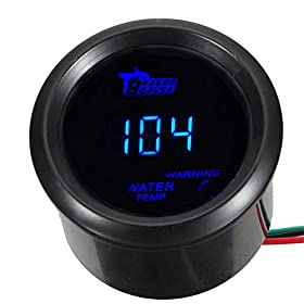 "E Support Car 2"" 52mm Digital Water Temp Gauge Blue LED Fahrenheit F"