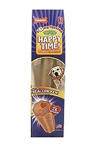 Nylabone Happy Time Large Chicken Flavored Dog Treat Bones