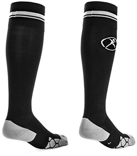 Graduated Compression Socks By Kunto Fitness - Reduce Leg Pain & the Appearance Of Varicose Veins - Increase Circulation (Large)