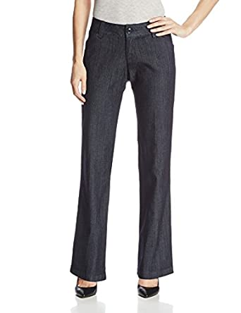 Lee Women's Modern Series Maxwell Curvy Fit Denim Trouser, Indigo Rinse, 4 Medium