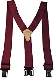 Perry Products SN200 Men\'s Clip-On 2-in Suspenders(Regular, Burgandy)