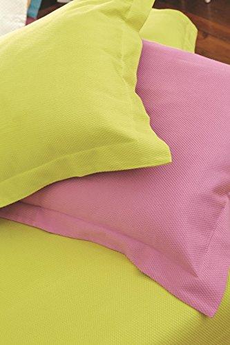 Lasa Pure 042 - Colcha de piqué para cama de matrimonio, 240 x 260 cm, color azul