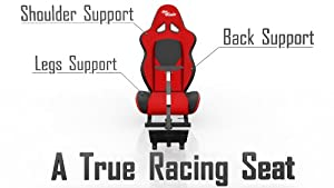 OpenWheeler Racing Seat Driving Simulator Game Chair Sim Racing Rig Play Seat with Gear Shifter Mount for G25/27 Thrustmaster T500RS TH8 RS from OpenWheeler