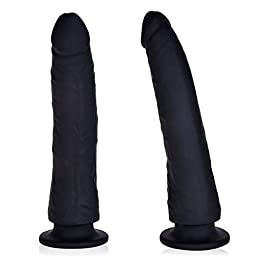 Utimi 8 Inch Dildo With Suction Cup (Black)