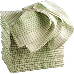 Wonderdry Tea Towels Green 95 Cotton 5 Polyester
