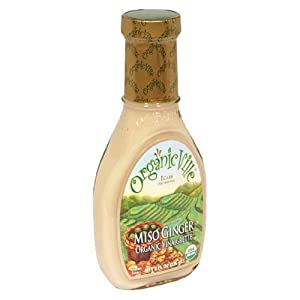 Organicville Miso Ginger Salad Dressing, Case of Six 8-Ounce Bottles
