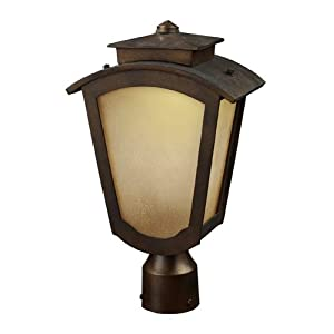 Click to read our review of ELK Lighting Porter 1-Light Outdoor Led Post Mount Only In Hazelnut Bronze