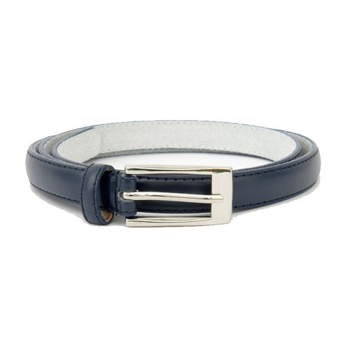 Ladies Medium Navy Skinny Bonded Leather Belt (100cm) image