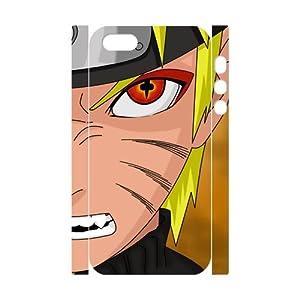 Naruto - Japanese Anime Cartoon 3D Case Plastic Cover for iPhone 5 5S, Uzumaki Naruto Face Kubi Evil Fox Eye Shell Skin