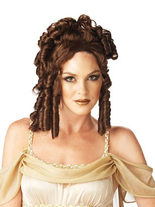 Goddess Wig Brown Wig Brunette Ringler Wig Theatre Costumes Accessory